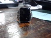 Black Stone Gent's Silver & Stone Ring 925 Silver 6.3g Size:10
